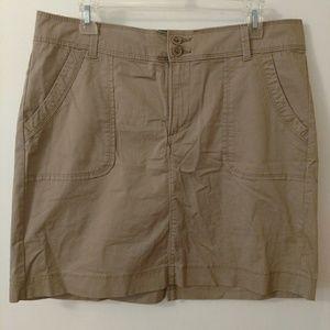 Lee Khaki Mini Skirt / Skort